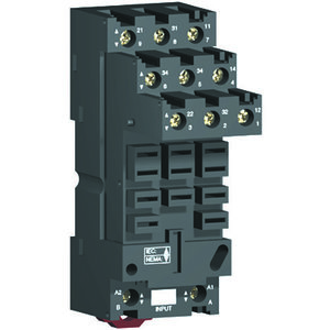 Square D RUZSF3M Relay, Plug In,Socket,11 Blade, DIN Rail Mount