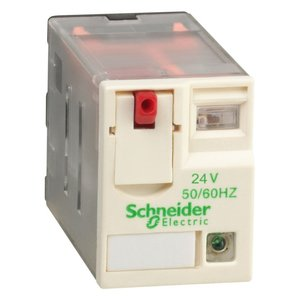 Square D RXM4AB2F7 Relay, Plug-In, 8A, 120VAC Coil, LED, Test Button, Lock Down Door