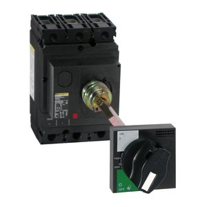 Square D S29338 Breaker, Molded Case, Rotary Handle Only, Black, Door Mounted