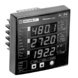 Square D S6200A0A0B0A0B0P Power Meter, ION6200, Integrated Display, 10A, Inputs, 100-240VAC