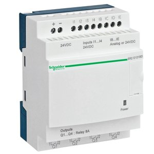 Square D SR2E121BD Relay, Programmable, No Display, 24VDC, 4 Inputs, 4 Relay Outputs