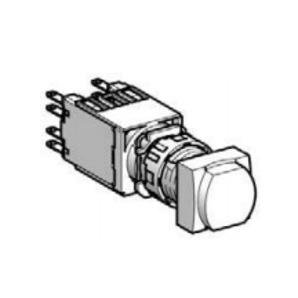 Square D XB6CW3B1B Push Button, 16mm, Square, Flush, Green, LED, 12 - 24V AC/DC, 1NO