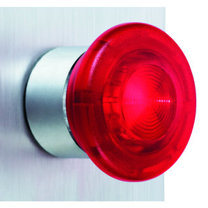 Square D ZB4BW643 Push Button, Illuminated, LED Red, 40mm Mushroom, Operator Only