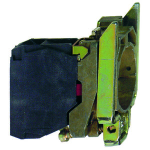 Square D ZB4BZ102 Pilot Device, Mounting Base, 22.5mm, 1NC Contact Block, 10A, 600VAC