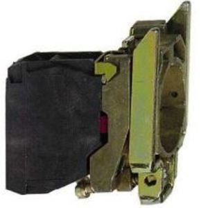 Square D ZB4BZ105 Pilot Device, Mounting Base, 22.5mm, 1NO/NC Contact, 10A, 600VAC