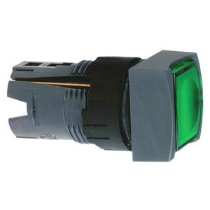 Square D ZB6CW3 Push Button, Square, 16mm, Flush, Green, Momentary, Operator Only
