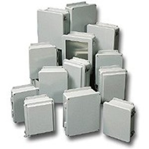 "Stahlin J1008HW Junction Box, NEMA 4X, 10"" x 8"" x 4"", Screw Cover, Fiberglass"