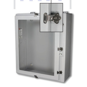 "Stahlin NW201610HWT Enclosure, NEMA 4X, 20"" x 16"" x 10"", Window Cover, Gray, Fiberglass"