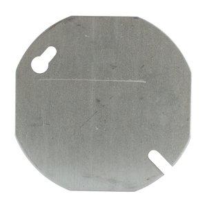 "Steel City 24C1-25 3-1/2"" Octagon Box Cover, Type: Blank, Steel"