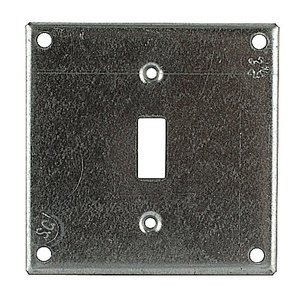 """Steel City 460-BW 4"""" Square Cover, 1/2"""" Raised, Steel"""