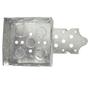 "Steel City 52151B1234 4"" Square Box, Welded, Metallic, 1-1/2"" Deep, ""B"" Bracket"
