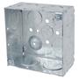"Steel City 52171-1 4"" Square Box, Welded, Metallic, 2-1/8"" Deep"