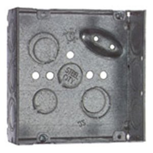 "Steel City 521711234E 4"" Square Box, Welded, Metallic, 2-1/8"" Deep"
