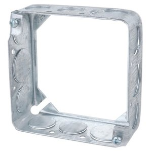 "Steel City 53151-1/2 4"" Square Extension Ring, 1-1/2"" Deep, Drawn, Metallic"