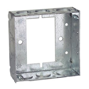 "Steel City 531511234UB 4"" Square Extension Ring, 1-1/2"" Deep, Welded, Metallic"