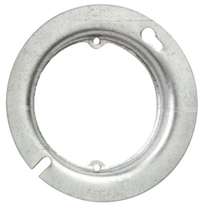 """Steel City 54-C-3 4"""" Round/Octagon Box Cover, 5/8"""" Raised, Ears 2-3/4"""" Centers, Steel"""