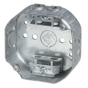 "Steel City 54151-A 4""octagon Box,stl,15.8cu,1/2-ko,clamp"