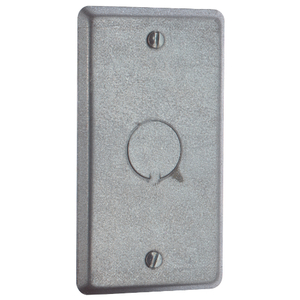"Steel City 58-C-6 Handy Box Cover, Type: (1) Blank 1/2"" KO, Drawn, Metallic"