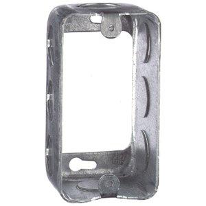 "Steel City 59361-1/2 Handy Box Extension Ring, 1-7/8"" Deep, 1/2"" KOs, Drawn, Metallic"