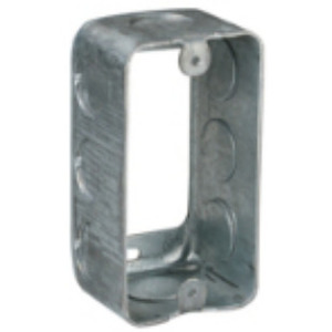 "Steel City 59361-3/4 Handy Box Extension Ring, 1-7/8"" Deep, 3/4"" KOs, Steel"