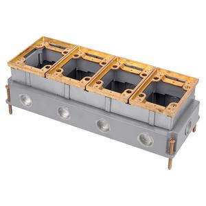 Steel City 644 4 Gang Adjustable Floor Box