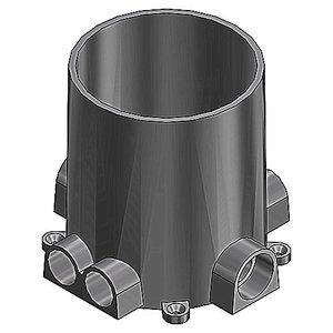 "Steel City 68-P Round Floor Box, Diameter: 5-5/32"", Depth: 6"", Non-Metallic"