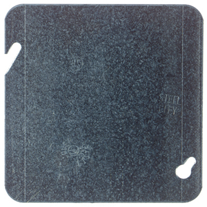 "Steel City 72-C-1 4-11/16"" Square Cover, Flat, Blank"