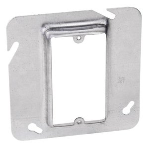 """Steel City 72-C-14-5/8 4-11/16"""" Square Cover, 1-Device, Mud Ring, 5/8"""" Raised, Drawn"""