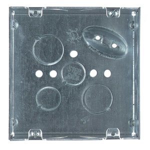 "Steel City 72171-1 4-11/16"" Square Box, Welded, Metallic, 2-1/8"" Deep"