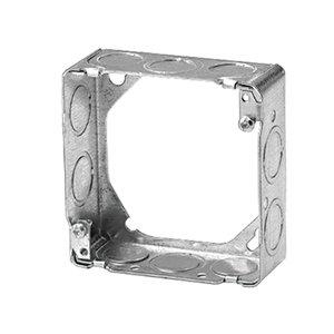 "Steel City 73151-1/2-3/4 4-11/16"" Square Extension Ring, 1-1/2"" Deep, Drawn, Metallic"