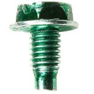 Steel City GS-1-SC Grounding Screw, Leader Point, Hex Head Washer Face, Green, 10 x 3/8""