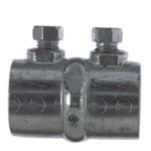 "Steel City HK-105 Rigid Set Screw Coupling, 1-1/2"", Steel, Concrete Tight"