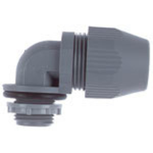 Steel City LT-592 Liquidtight Connector, 90°, 3/4 Inch, Non-Metallic, Gray