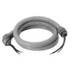 "Steel City LTWM-34-6-8 Whip Assembly, 3/4"", Liquidtight Conduit, 8 AWG, 6' Long"