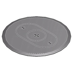 Steel City P-68-FSC-GRY 68 FSC GRY NON-METAL COVER PLATE