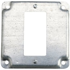 "Steel City RS-16-CC 4"" Square Exposed Work Cover, (1) GFCI"