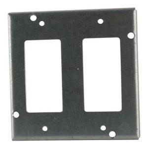 "Steel City RSL-17 4-11/16"" Square Cover, 1/2"" Raised, 2-Device"