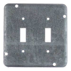 """Steel City RSL-5 4-11/16"""" Square Exposed Work Cover, (2) Toggle Switch"""