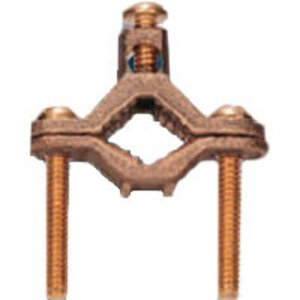 "Steel Electric Products 10BR Ground Clamp, 1/2"" to 1"", Bronze"