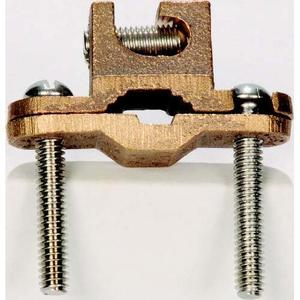 "Steel Electric Products RBC50 Ground Clamp for Rebar, Direct Burial, Bronze, 3/8"" to 1 Rebar"