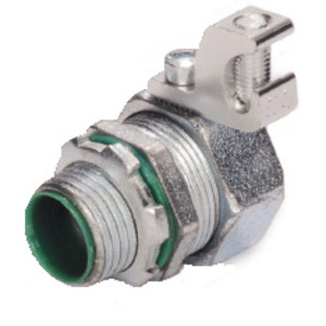 Steel Electric Products SLT32ALT Liquidtight Grounding Connector, Straight, Insulated, Size: 2""