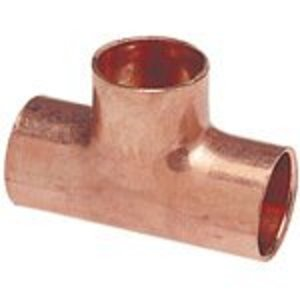 "Streamline W40121 Tube Fitting, Tee, 1-5/8 x 1-5/8 x 2-1/8"", Copper"