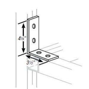 Superstrut AB205-EG Four Hole Corner Angle, Steel, Electro-Galvanized
