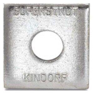 """Superstrut AB241-1/2EG Square Washer, 1/2"""", Steel, Electro-Galvanized"""