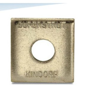 "Superstrut AB241-3/8 Square Washer, 3/8"" Bolt Hole, Steel/Electro-Galvanized"