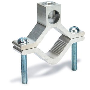 "Superstrut AJ-2 Water Pipe Ground Clamp, 1-1/2 to 1"",  6 AWG to 250 MCM, Aluminum"