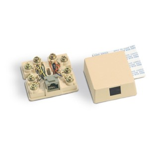 Suttle 625A28NK-2-50 Telephone, Surface Mount, 1 Port, Jack, 8P8C, RJ48X, Ivory