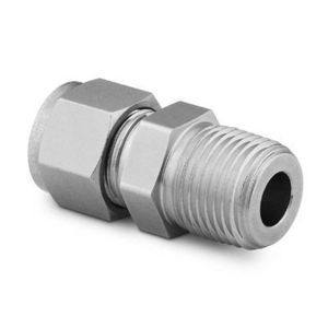 "Swagelok SS-810-1-8 Tube Fitting, Male Connector, 1/2"" NPT, Stainless Steel"