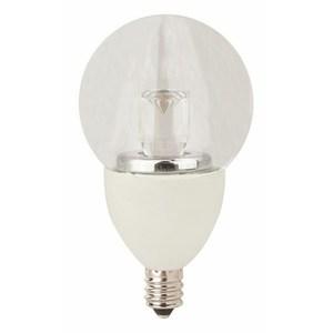 TCP LED4E12G1627K LED Lamp, Dimmable, G16, 4W, 120V, Candelabra Base