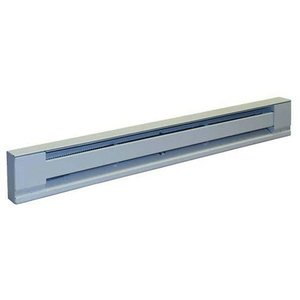 """TPI H2915072S Baseboard Heater, Convection, 72"""", 1500/1125W, 240/208V"""